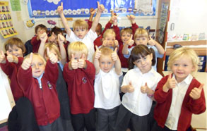 Children at Tibberton School