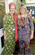 Tibberton Teachers in Kenyan Dress