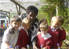 Catherine Musila at Tibberton School